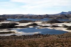 Andean lagoon Stock Images