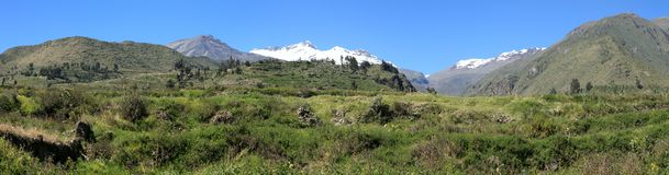 Andean Landscape in Peru Royalty Free Stock Photos