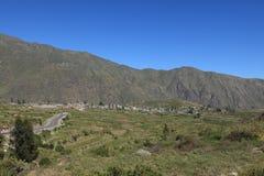 Andean Landscape in Peru Stock Image