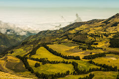 Andean landscape south america Stock Photography
