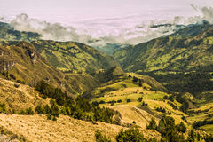 Andean landscape south america Royalty Free Stock Image