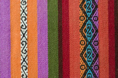 Andean  loom. Andean weaving loom made in bright colors Royalty Free Stock Photos