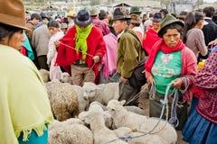 Andean marknad Saquisilà Royaltyfri Foto