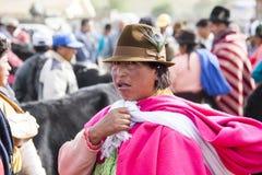 Andean marknad Saquisilà Fotografering för Bildbyråer