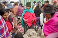 Andean marknad Saquisilà Royaltyfri Fotografi