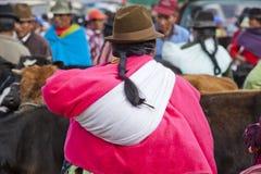 Andean marknad Saquisilà Arkivbilder