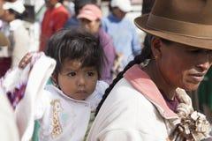Andean marknad Saquisilà Arkivfoton