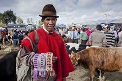 Andean marknad Saquisilà Arkivfoto