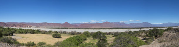 Andean mountain and blue sky Cachi, Ruta 40, Salta, Argentina royalty free stock photography