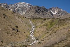 Andean mountain landscape with stream royalty free stock image