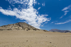 Andean mountain in Trujillo with blue sky in Peru Stock Images