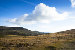 Andean Mountains. Landscape with mountains and clouds in Colombia Royalty Free Stock Photos
