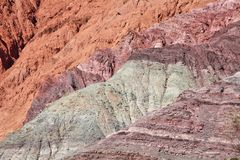 Andean region mountains background. Arid multi-colored mountains (Northern Argentina royalty free stock photo