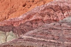 Andean region mountains background. Arid multi-colored mountains (Northern Argentina royalty free stock photos