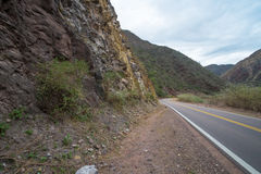 Andean road Royalty Free Stock Images