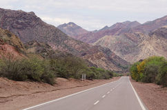 Andean road Royalty Free Stock Photo
