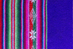 Andean textile in alpaca and sheet wool. Traditional andean tapestry from northern Argentina and Bolivia Royalty Free Stock Image
