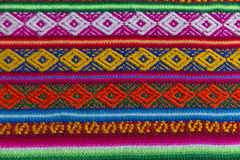 Andean textile in alpaca and sheet wool stock image
