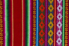 Andean textile in alpaca and sheet wool Royalty Free Stock Images