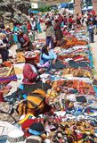 Andean textile market Stock Photography