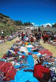 Andean textile market Stock Images