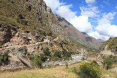 Andean Valley around Machu Picchu Royalty Free Stock Image