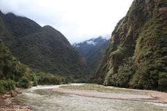 Andean Valley around Machu Picchu Stock Photos