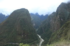 Andean Valley around Machu Picchu Royalty Free Stock Photo