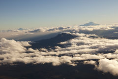 Andean valley at sunrise seen from the Cotopaxi Royalty Free Stock Photos