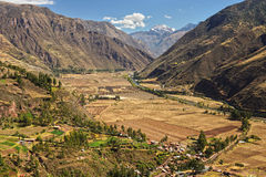 Andean Valley and Urubamba river Royalty Free Stock Image
