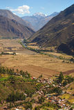 Andean Valley and Urubamba river Stock Image