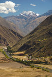 Andean Valley and Urubamba river Royalty Free Stock Images