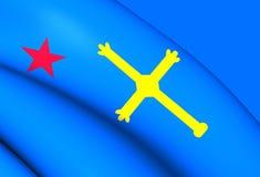 Andecha Astur flaga Zdjęcie Stock