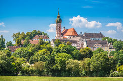 Andechs Abbey in summer, district of Starnberg, Upper Bavaria, Germany Stock Image