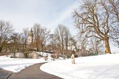 Andechs-Kloster im Winter, Bayern, Deutschland Lizenzfreies Stockbild