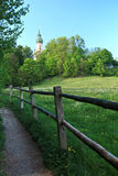 Andechs Monastery On A Hill, Ammersee. Andechs Monastery In One Of The Most Famous Places Of Pilgrimage In Bavaria In Germany stock photography