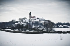Andechs Monastery in winter scenery Stock Photo