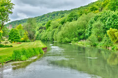 Andelle river in Radepont in Haute Normandie Stock Image