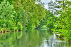 Andelle river in Radepont in Haute Normandie Stock Photos