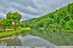 Andelle river in Radepont in Haute Normandie Stock Images