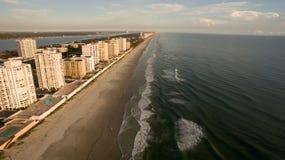 Andelslägenheter på stranden i Florida Arkivbilder