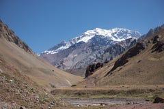 Anden-Berge in Mendoza Argentinien Stockfotos