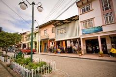 Andendorf Chordeleg in Ecuador bekannt für lizenzfreies stockbild