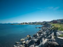 Andenes Coast, Norway. A shot of the east-sided-coast in Andenes, Norway Royalty Free Stock Photography