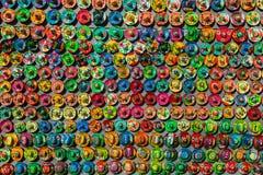 Andenken auf dem Markt bei Chichen Itza Maya Indians, Schädel, Magneten, Platten Stockbild
