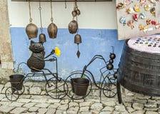 Andenken der Stadt Obidos - Freiluftmuseum, Portugal Stockbild