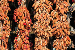 Andenken für Verkauf in altem Bazar Skopjes, Mazedonien stockfoto