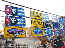 Andenken für Verkauf auf Kubaner lizenzfreies stockbild
