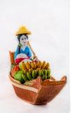 Andenken trägt Boot Früchte stockbild