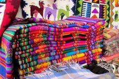 Andenken traditionelle quechua textil Abdeckung Lizenzfreie Stockfotografie